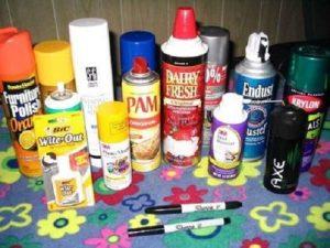 محصولاتی که جزو مواد استنشاقی طبقهبندی میشوند
